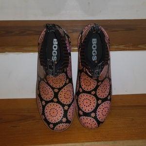 Bogs Mattie Dahlia Sz 10 Short Ankle Boots Pink/Bl